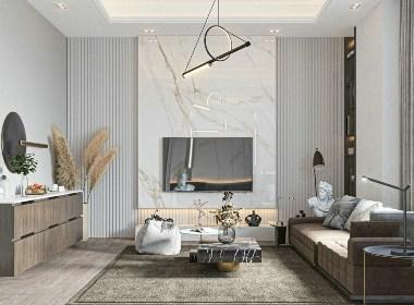 现代居所,用线条美与理石抒写质感生活