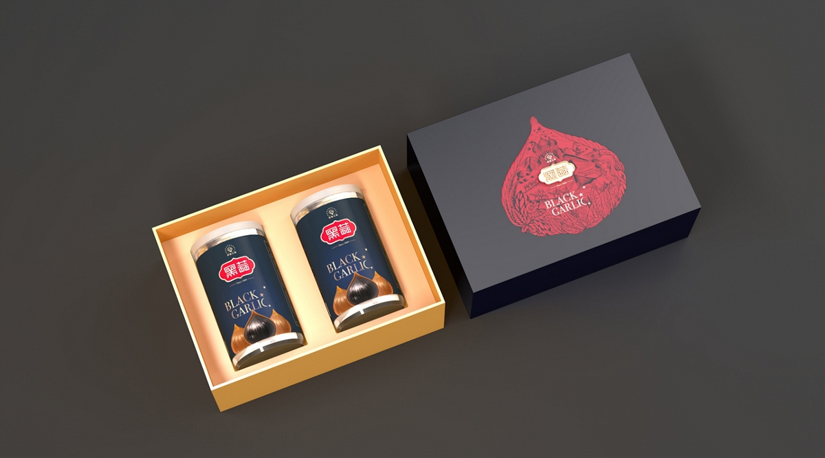 三利黑蒜礼盒包装设计
