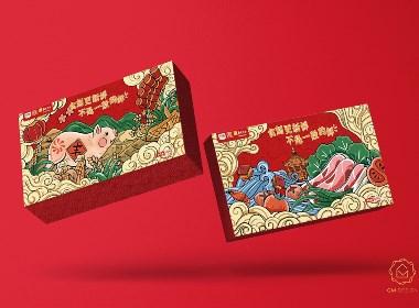 猪肉礼盒 | 插画包装