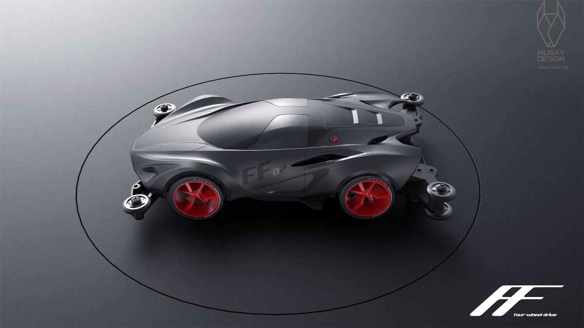 哈士奇设计作品  - 儿童玩具四驱车