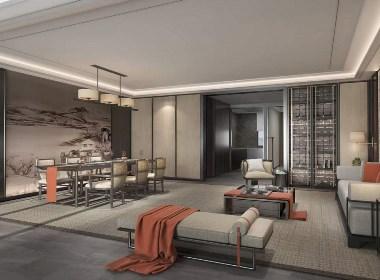 新中式别墅施工图+效果图