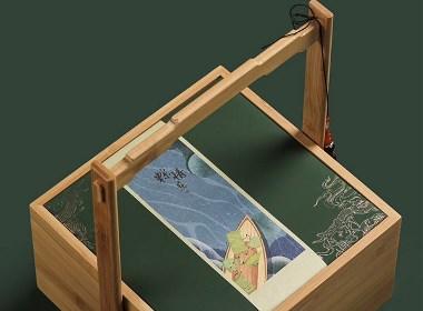 高档端午节粽子礼盒竹盒