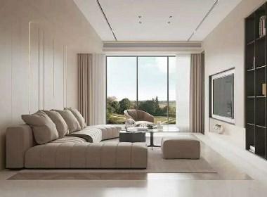奶白色住宅,演绎极致的现代空间
