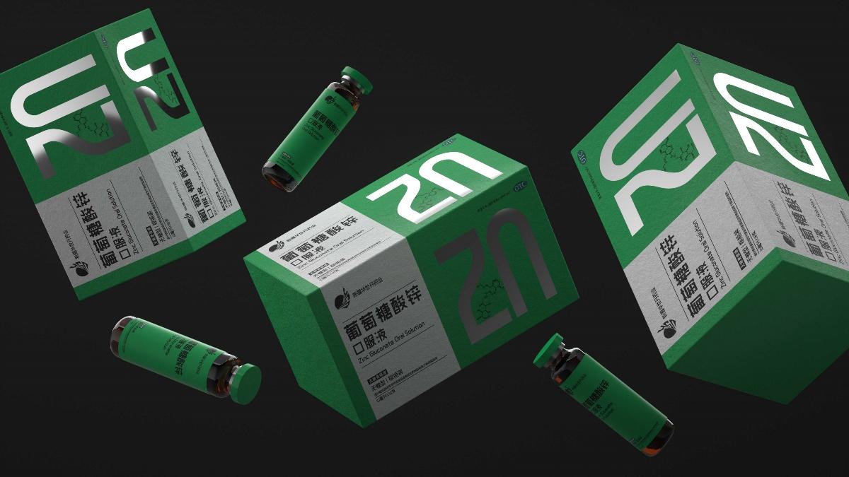 葡萄糖酸钙口服液包装设计
