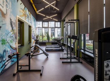极具艺术气息的健身工作室