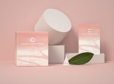SANDPINK×Hellolink | 鱼子酱水感乳霜面膜包装设计