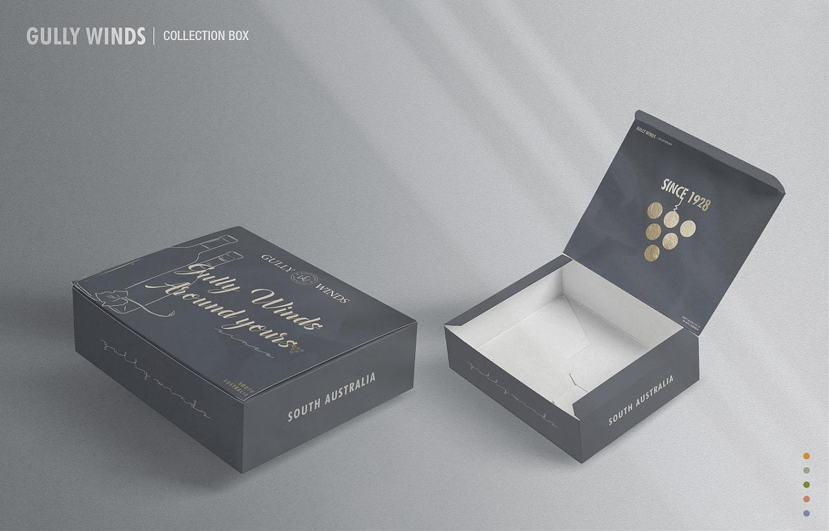 《GULLYWINDS》葡萄酒物料腰封/包装盒设计