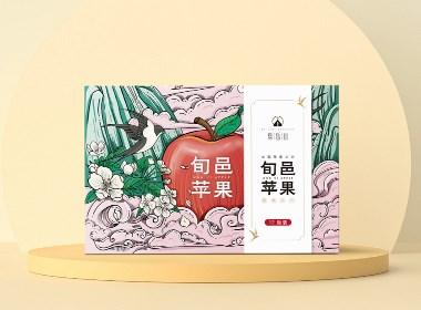 水果包装 - 旬邑苹果礼盒包装设计