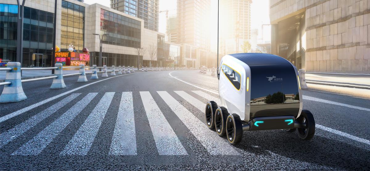 美团外卖无人配送餐机器人