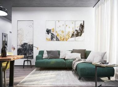 现代艺术派的大方与简洁设计