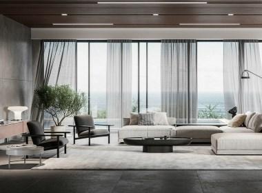 现代气质居所 - 面朝大海的极简优雅
