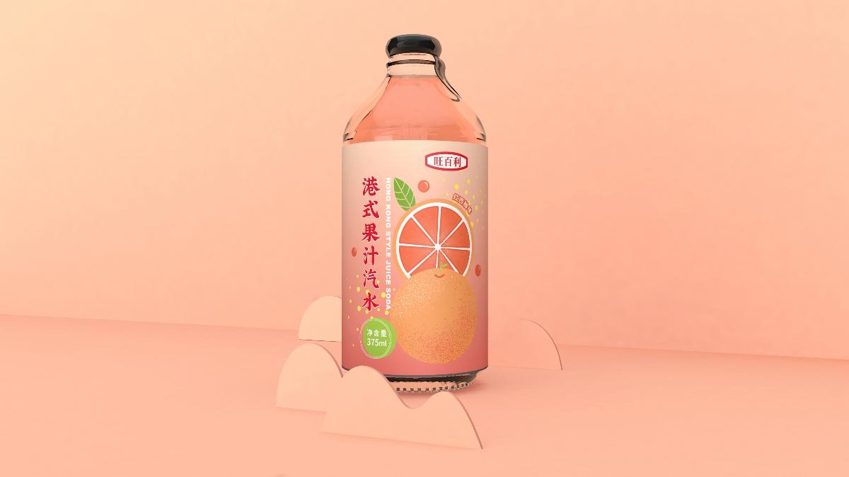 果汁汽水包装设计