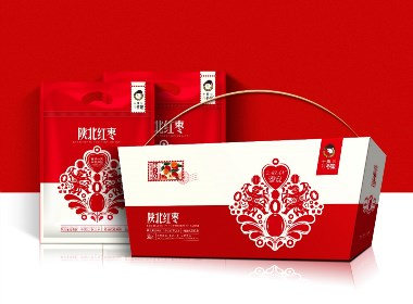 十月谷娘 - 陕北红枣包装设计