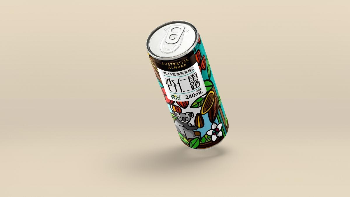 April作品「杏仁露」植物蛋白饮料包装设计