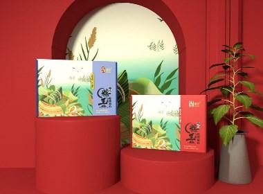 象鸟品牌X上海·璐坊粽王X食品粽子包装设计