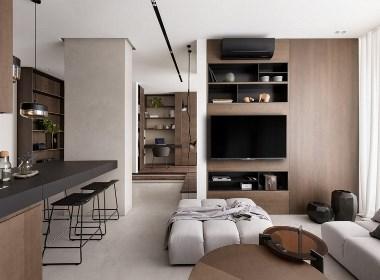 简单的木色公寓,却让人觉得很温暖!