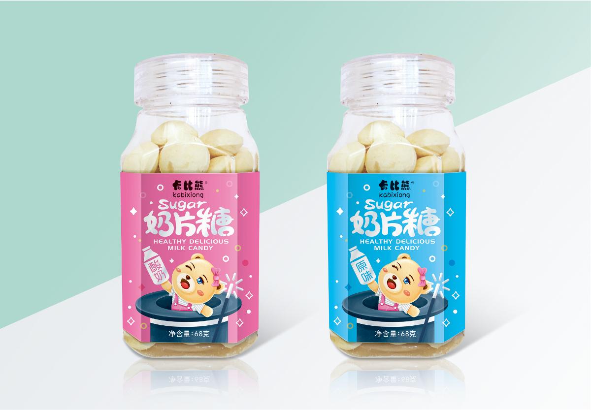 奶片糖包装设计