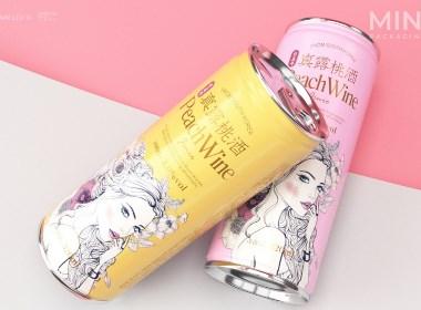 易拉罐饮料包装 真露低度果酒饮料