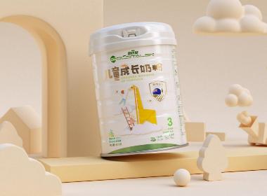 高优能儿童奶粉包装