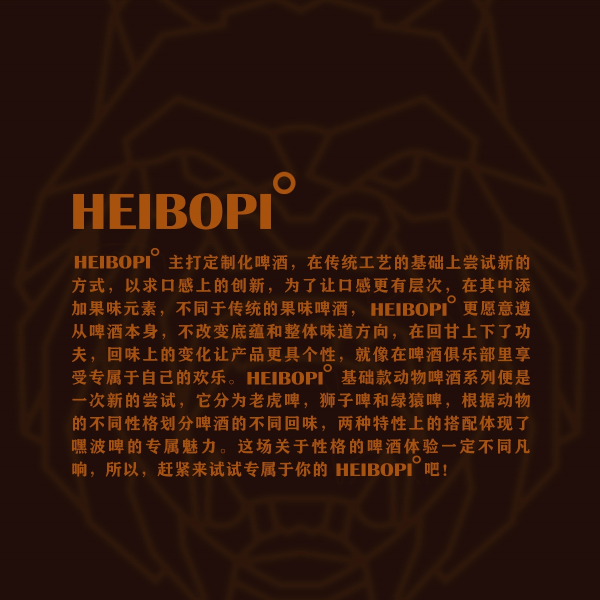 HEIBOPI°   定制化啤酒包装设计【原创】