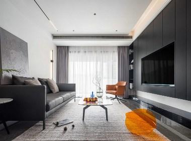 超长电视背景墙,配色高级收纳强大-现代风格