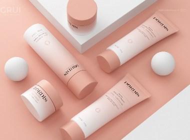 化妆品包装 护肤品包装 润肤霜 洁面乳 爽肤水包装设计