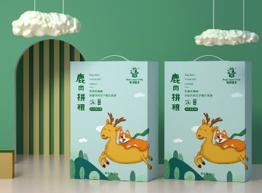 象形字设计|宠物食品品牌logo/包装/C4D设计