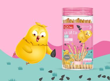 沃爱广告 儿童食品饼干包装设计山楂卷包装设计