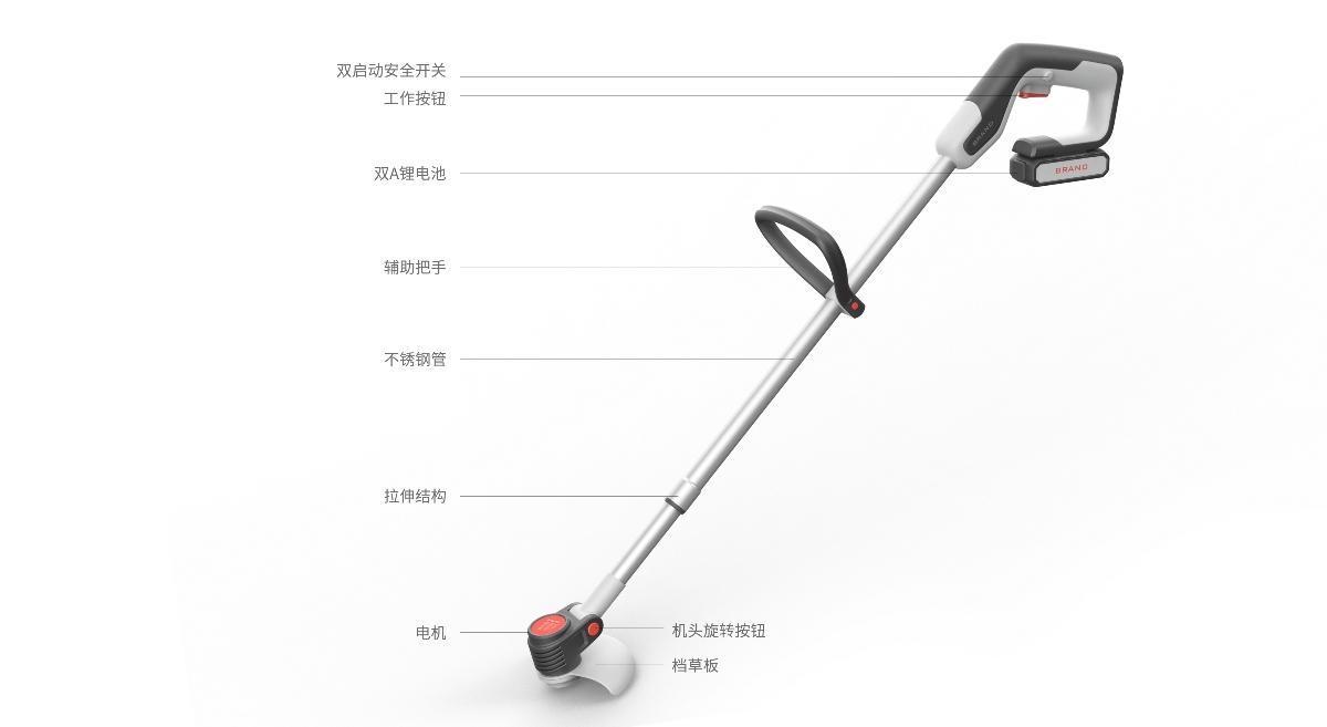 黑桃设计-锂电家用打草机