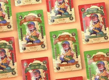三只松鼠-悟空麻花品牌新视觉作品分享【汤臣杰逊】