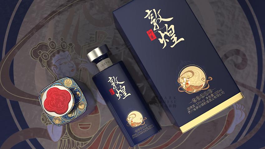酱香型白酒敦煌印象包装设计-黑马奔腾设计