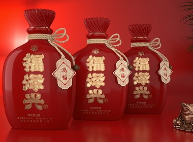 福文化白酒包装设计-黑马奔腾策划设计