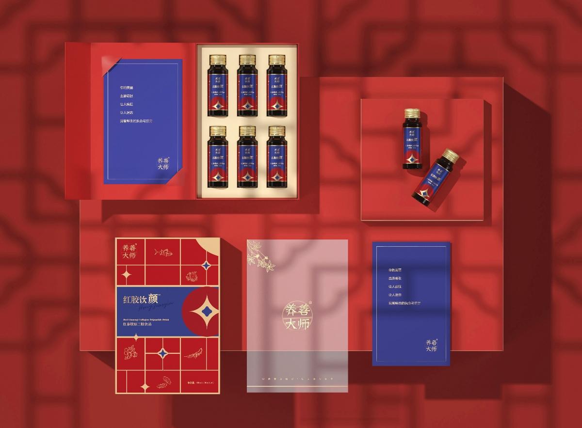 Hellolink | 养善大师大家康营养保健品新中式国风包装设计