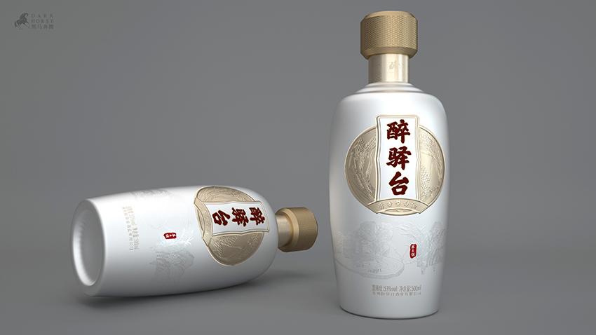 贵州酱香白酒醉驿台酒包装设计-黑马奔腾设计