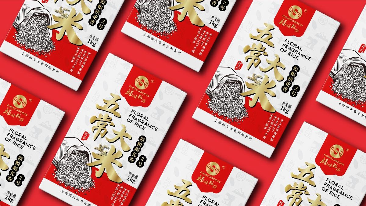 国元米业-五常大米礼盒设计|摩尼视觉原创