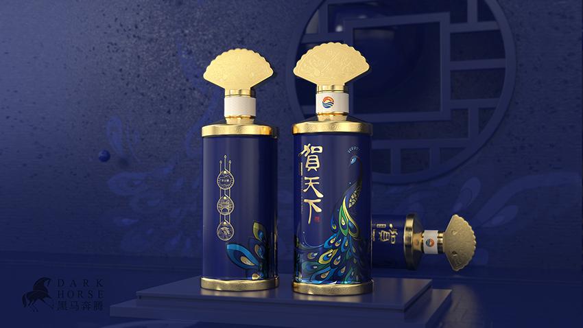 贵州酱酒贺天下包装设计-黑马奔腾设计