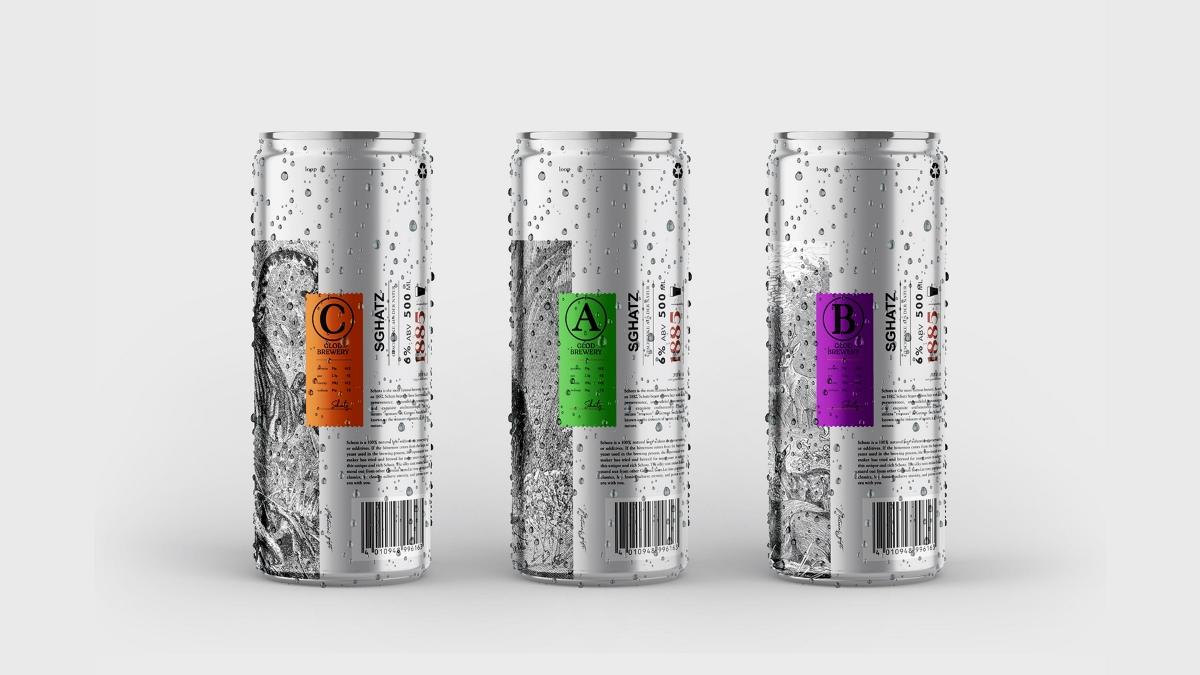 Schatz啤酒包装设计酒类包装插画