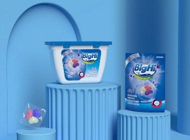Hellolink | BigHi洗衣液凝珠日用品全套包裝設計