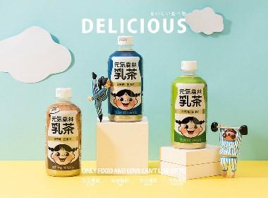 元气森林乳茶—电商奶茶饮品拍摄×学员作品