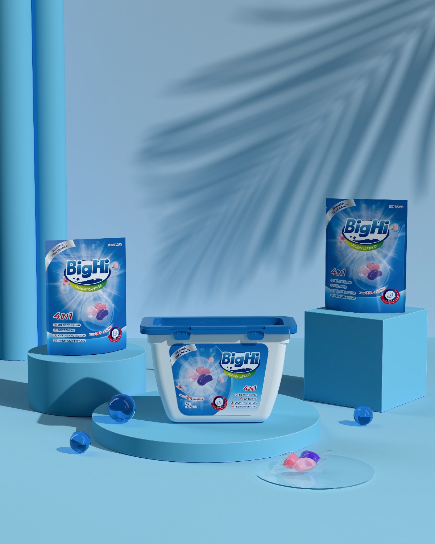 Hellolink | BigHi洗衣液凝珠日用品全套包装设计