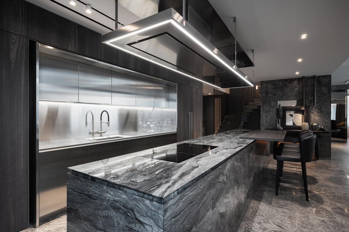 大理石+高级灰,自然又奢华的高级设计!