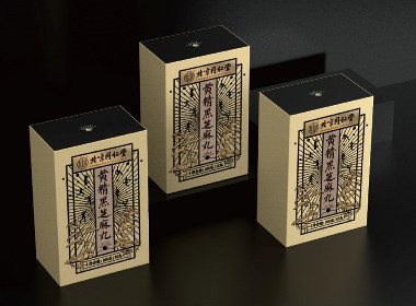 同仁堂黑芝麻丸包装设计