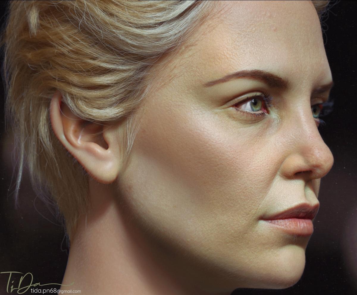 女性人物3D画像