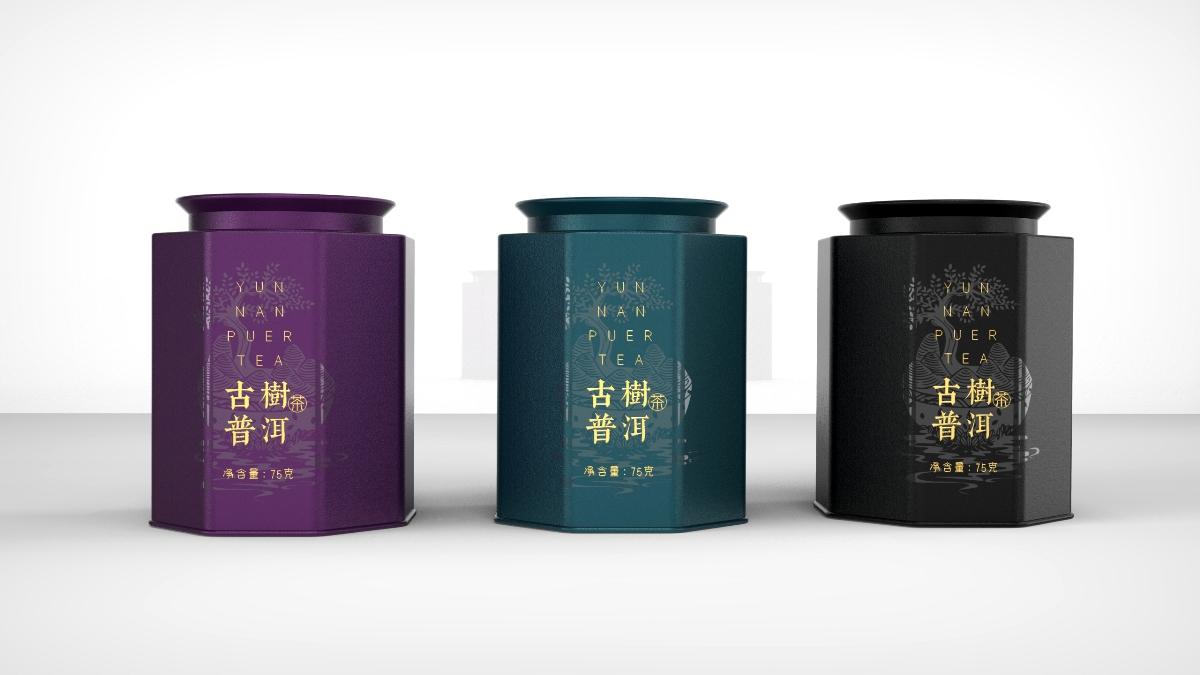 云南普洱茶铁罐包装设计 × CB创博