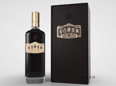 木盒保健酒包装设计-黑马奔腾设计