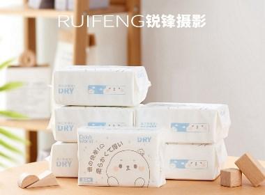 婴儿棉柔巾拍摄|纸巾摄影|产品拍摄|RUIFENG武汉锐锋摄影工作室
