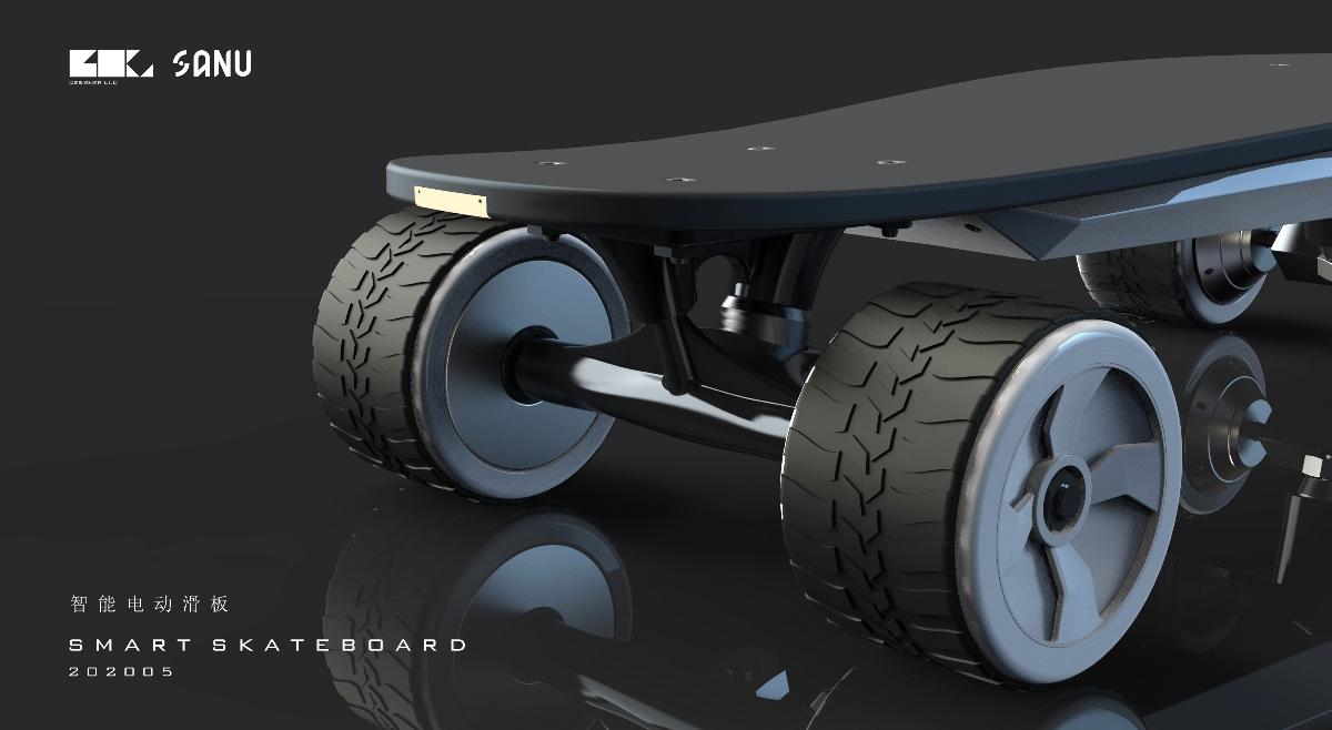 FAST 智能电动滑板|产品外观设计|LI.C李春良