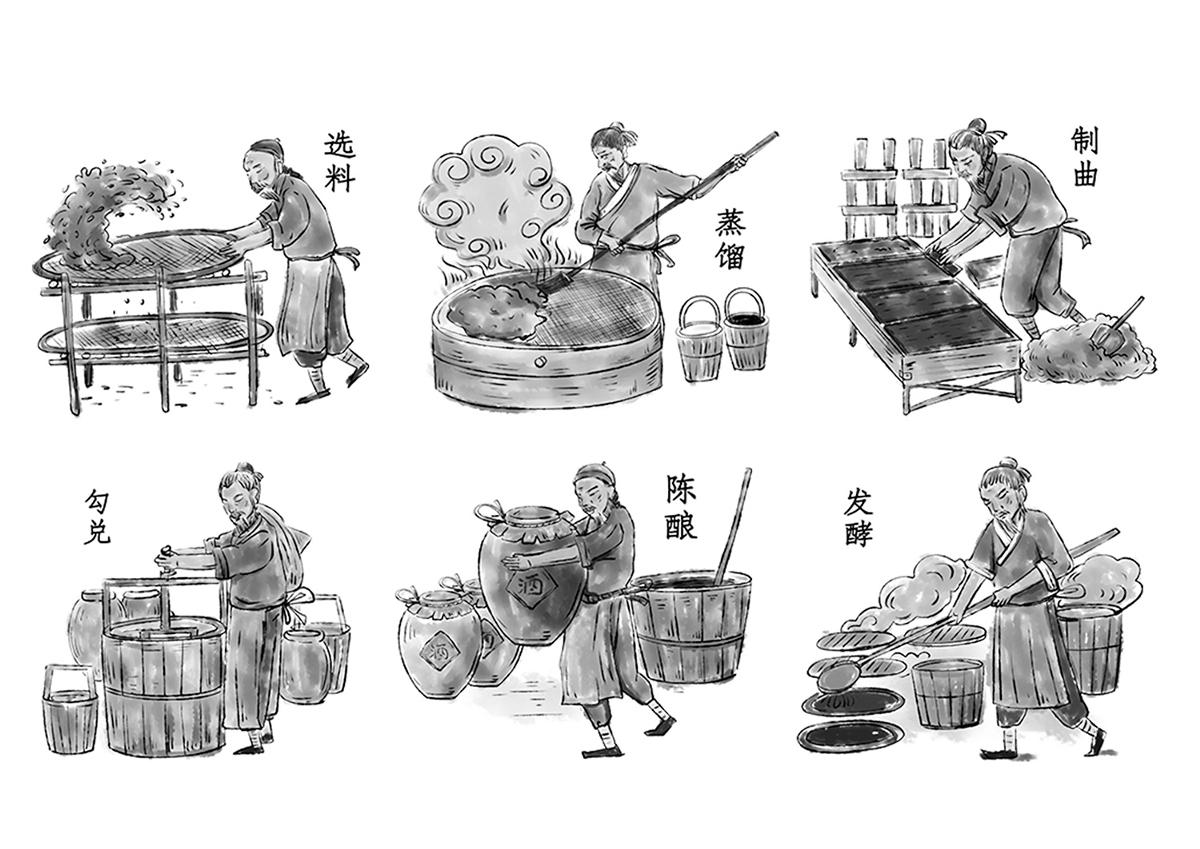 都水鸿源@厚启 / 战略新品-三鱼共首白酒包装设计