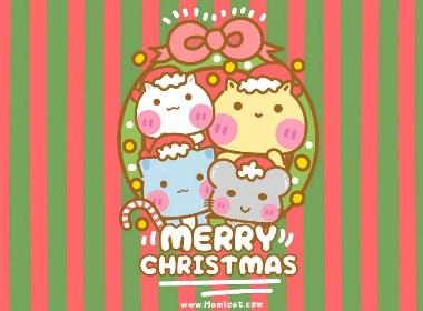 可爱哈咪猫圣诞节