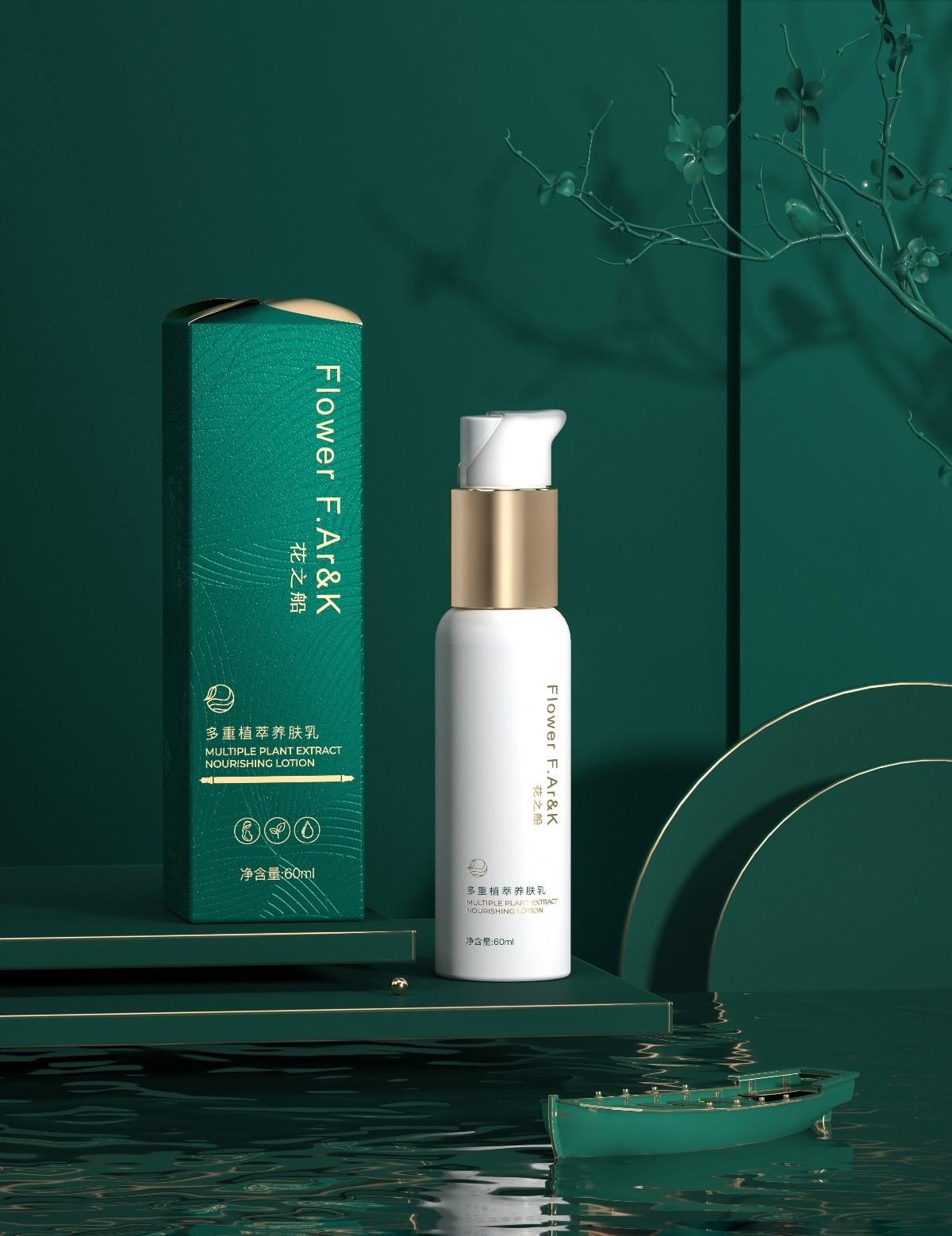 Hellolink | 花之船中式轻奢护肤化妆品美妆包装设计
